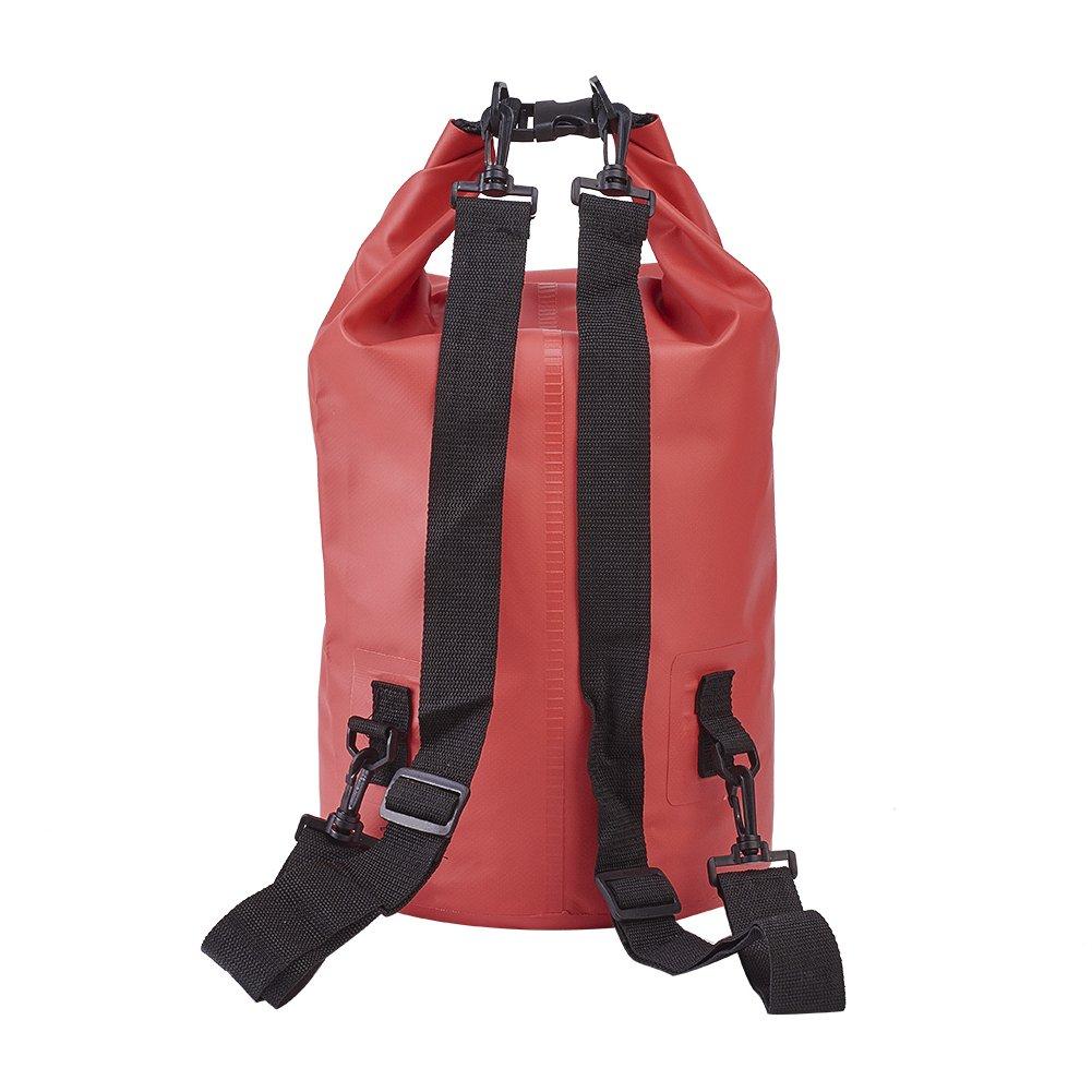 elecrelive防水ドライバッグwith Adjustable Shoulderストラップforカヤック、ビーチ、ラフティング、ボート B076FXWDZQ   15 Liters