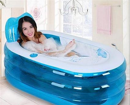 Vasca Da Bagno Pieghevole : Spessore caldo casa adulto pieghevole gonfiabile vasca da bagno