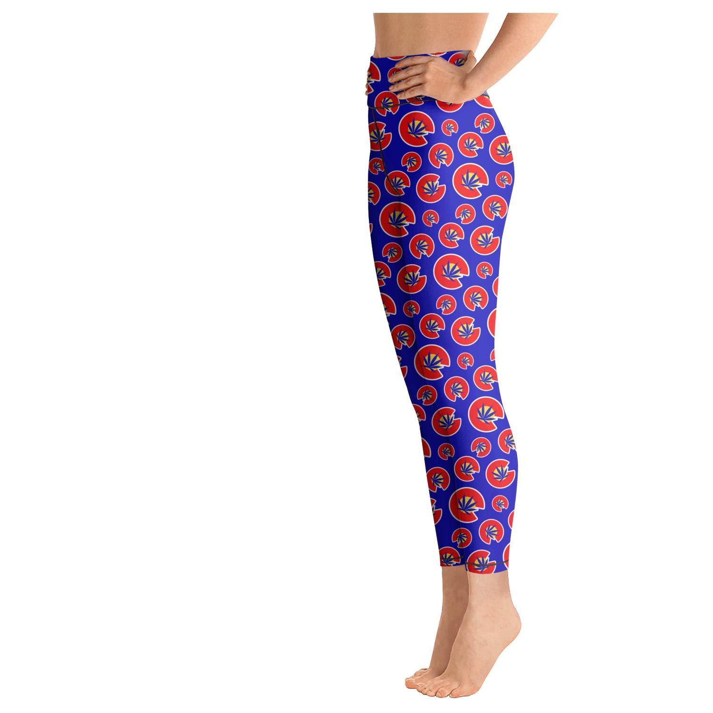 PROGIFToO Womens Workout Running Legging Colorado Flag/_0000/_Colorado-Flag Tummy Control Yoga Pants Stretch