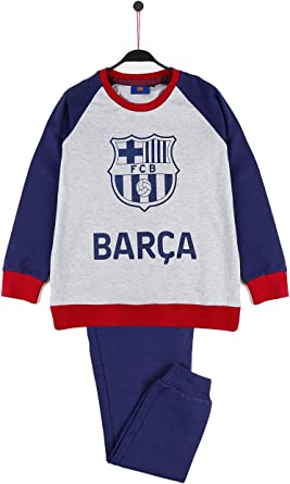 FC Barcelona Pijama Manga Larga FCB Escudo para Niño