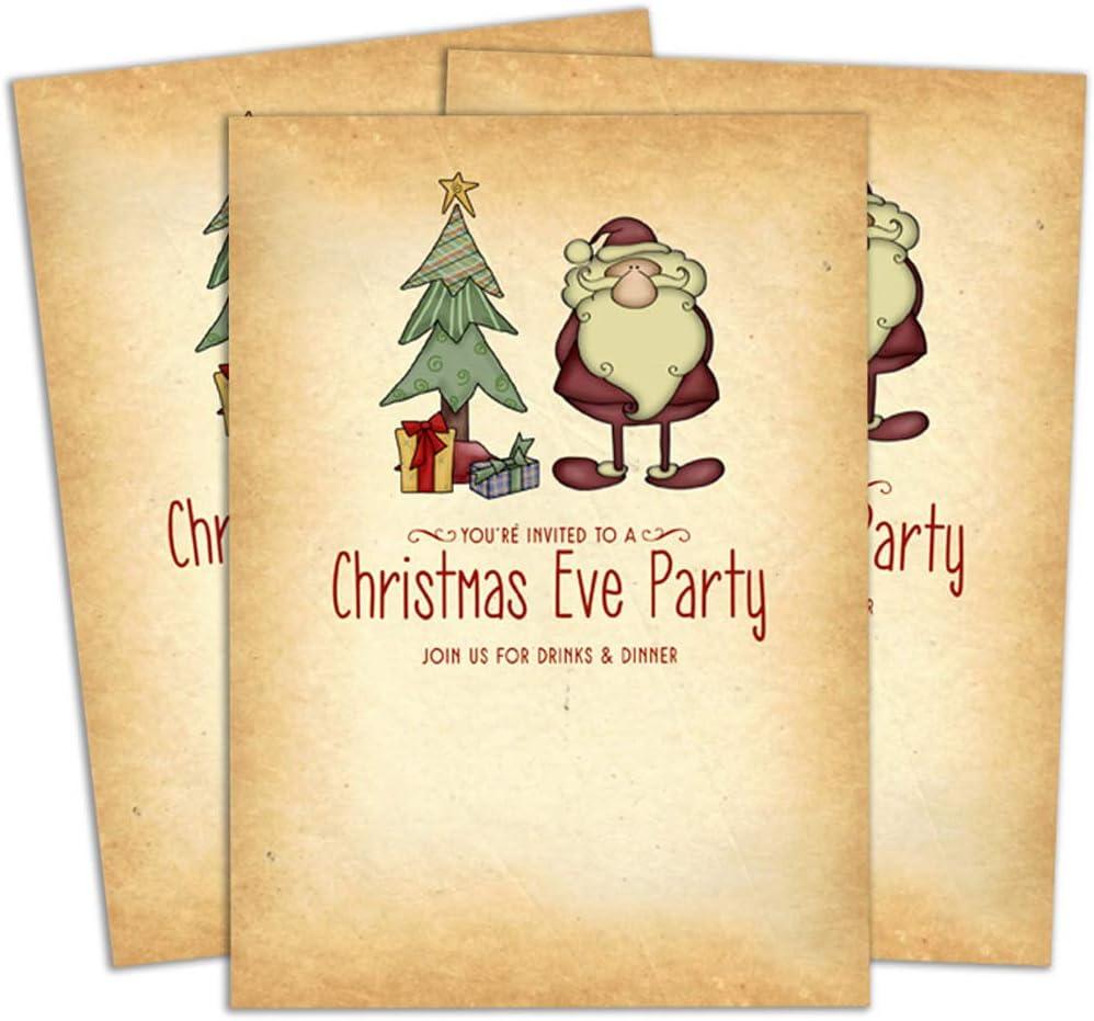 Amazon Com Darling Souvenir Orange Christmas Invitation