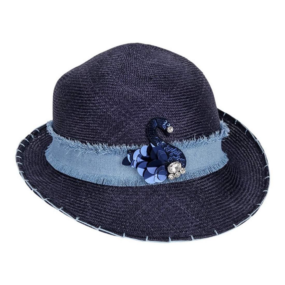Vfdsvbdv Summer Hat Women's Cool Hat Party Hat (Color : Dark Blue, Size : One Size) by Vfdsvbdv