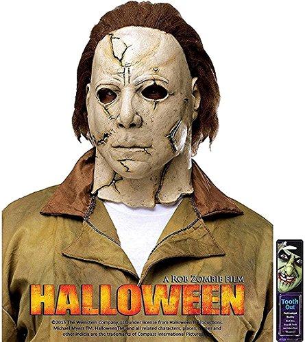 Fun World Michael Myers Rob Zombie Halloween Mask Accessory, -Gold, (Michael Myers Mask Halloween 4)