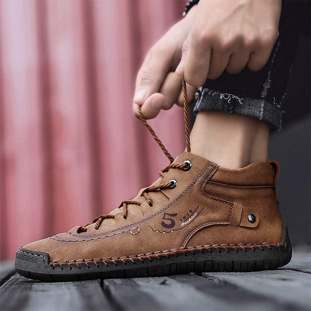 LIEBE721 LIEBE721 Botas de Invierno de los Hombres Retro c/ómodos Zapatos de Nieve de Cuero de la Cremallera c/ómoda para Caballeros Resistente a la abrasi/ón Zapatillas Casual