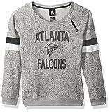 Outerstuff NFL Girls 7-16″My City Long Sleeve Boatneck Pullover Sweatshirt-Heather Grey-XL(16), Atlanta Falcons