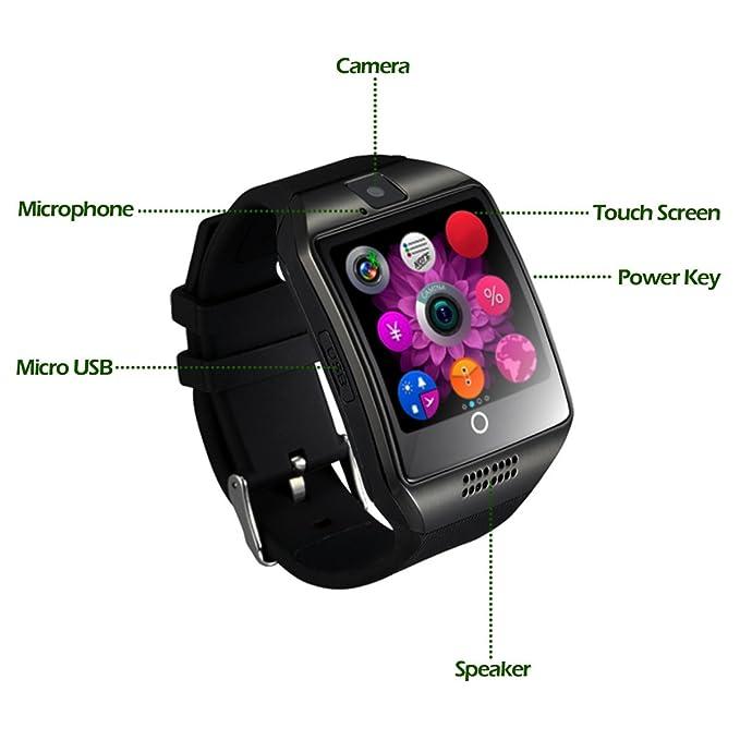 Smartwatch CHEREEKI Smart Watch Reloj Inteligente Bluetooth Smartwatch Teléfono Inteligente Pulsera de Pantalla Curvada Soporte SIM/TF para Android ...