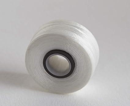 White 144 pcs//Box Steady Stitch Magnetic Core Bobbin Size L