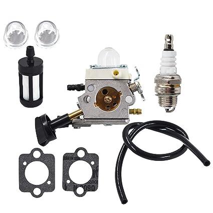 Amazon.com: WFLNHB Carburador para Zama C1M-S203 BG86 BG86C ...