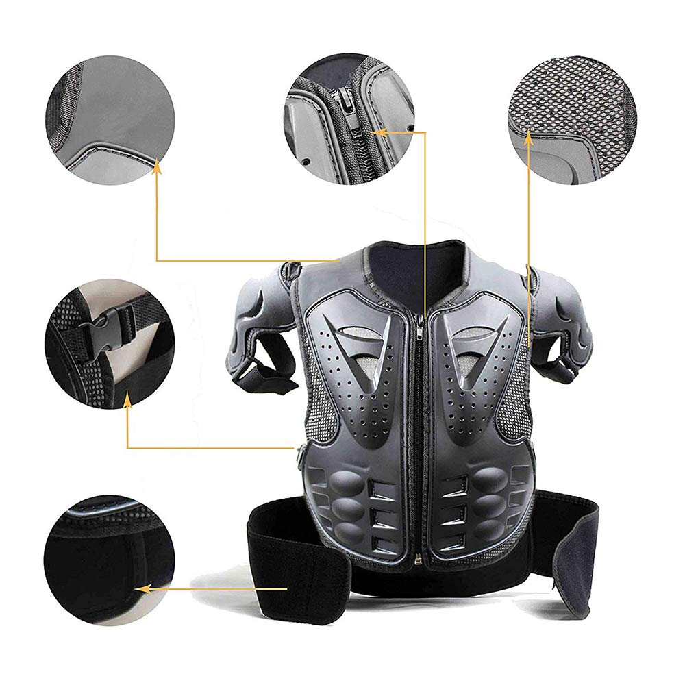 Motocross Racing Kids Dirt Bike Protector Armor Vest Body Chest Spine Back Skating Skateboard Knee//Shin Guard Pads Toddler Protective Gear Set for Youth Children Sports Safety Protection: Biking