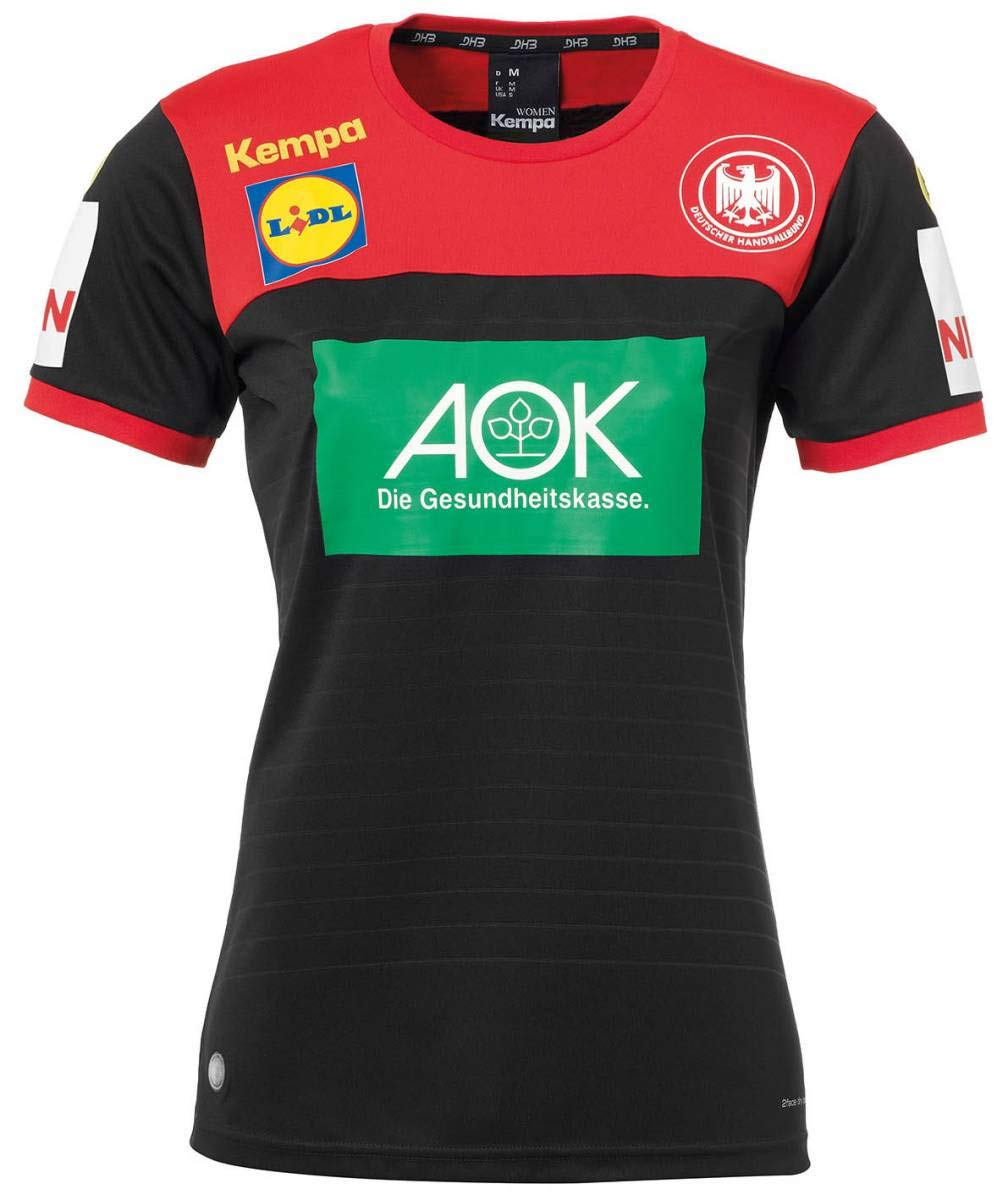 Kempa Handball Frauen DHB Trikot Away 2018 2019 Deutscher Handballbund Auswärtsshirt Damen schwarz rot