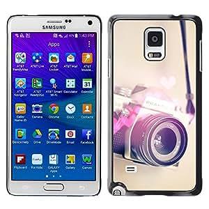 YOYOYO Smartphone Protección Defender Duro Negro Funda Imagen Diseño Carcasa Tapa Case Skin Cover Para Samsung Galaxy Note 4 SM-N910F SM-N910K SM-N910C SM-N910W8 SM-N910U SM-N910 - fotografía del amor del corazón cámara de fotos