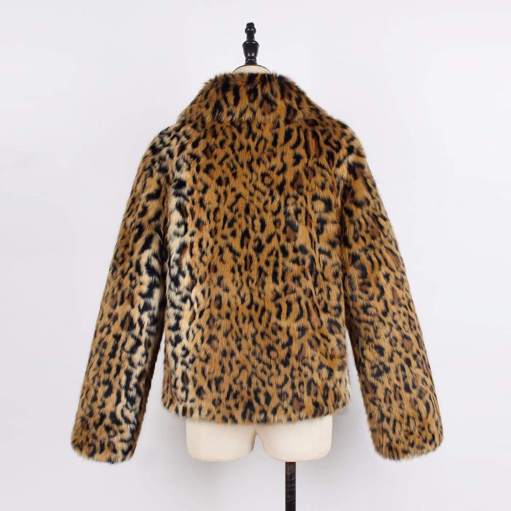 FRAUIT Damen Wollmantel Frauen Warm Jacke Leopard-Druck-Pelz-Mantel-Jacken- Winter-Parka-Oberbekleidung der Damen-Frauen Westen Mode Streetwear Freizeit  ... d4b6dfc6b7