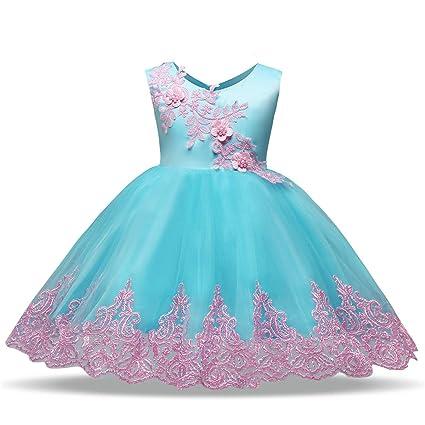 GXYCP Vestido para Niñas Encaje Mariposa Princesa Vestido Cumpleaños Modelo Show Party Casado Vestido De Dama