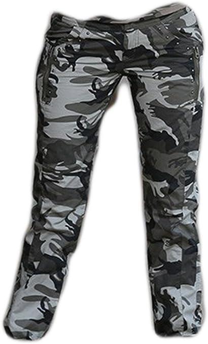 Cc Jj Pantalones Casuales De Camuflaje Militar Para Mujer Talla 28 Amazon Es Deportes Y Aire Libre