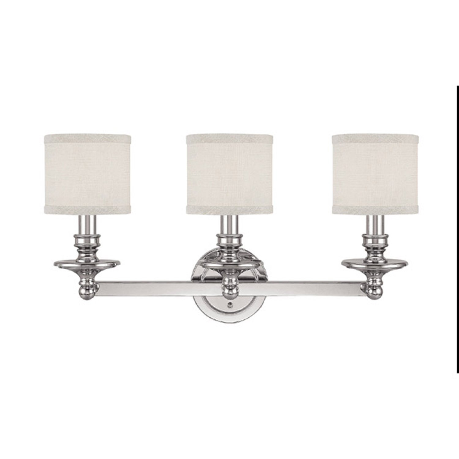 Capital Lighting 1238PN 451 Vanity With White Fabric Shades, Polished Nickel  Finish   Vanity Lighting Fixtures   Amazon.com