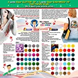 GERCUTTER Store: 4 yards SISER GLITTER + 2 yards SISER EASYWEED Heat Transfer Vinyl on Cotton or Polyester Mesh and Poly-blend Fabrics (Mix & Match your favorite colors)