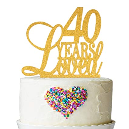 Image Unavailable Not Available For Color 40 Years Loved Cake