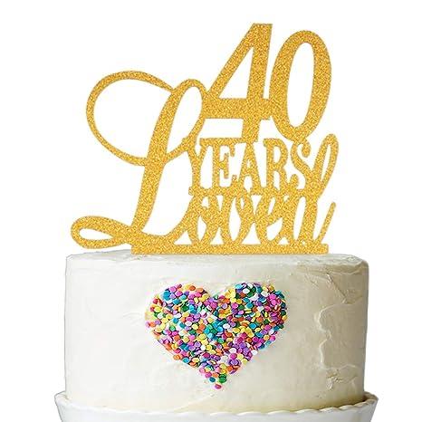 Amazon.com: Decoración para tartas de 40 años, diseño de ...