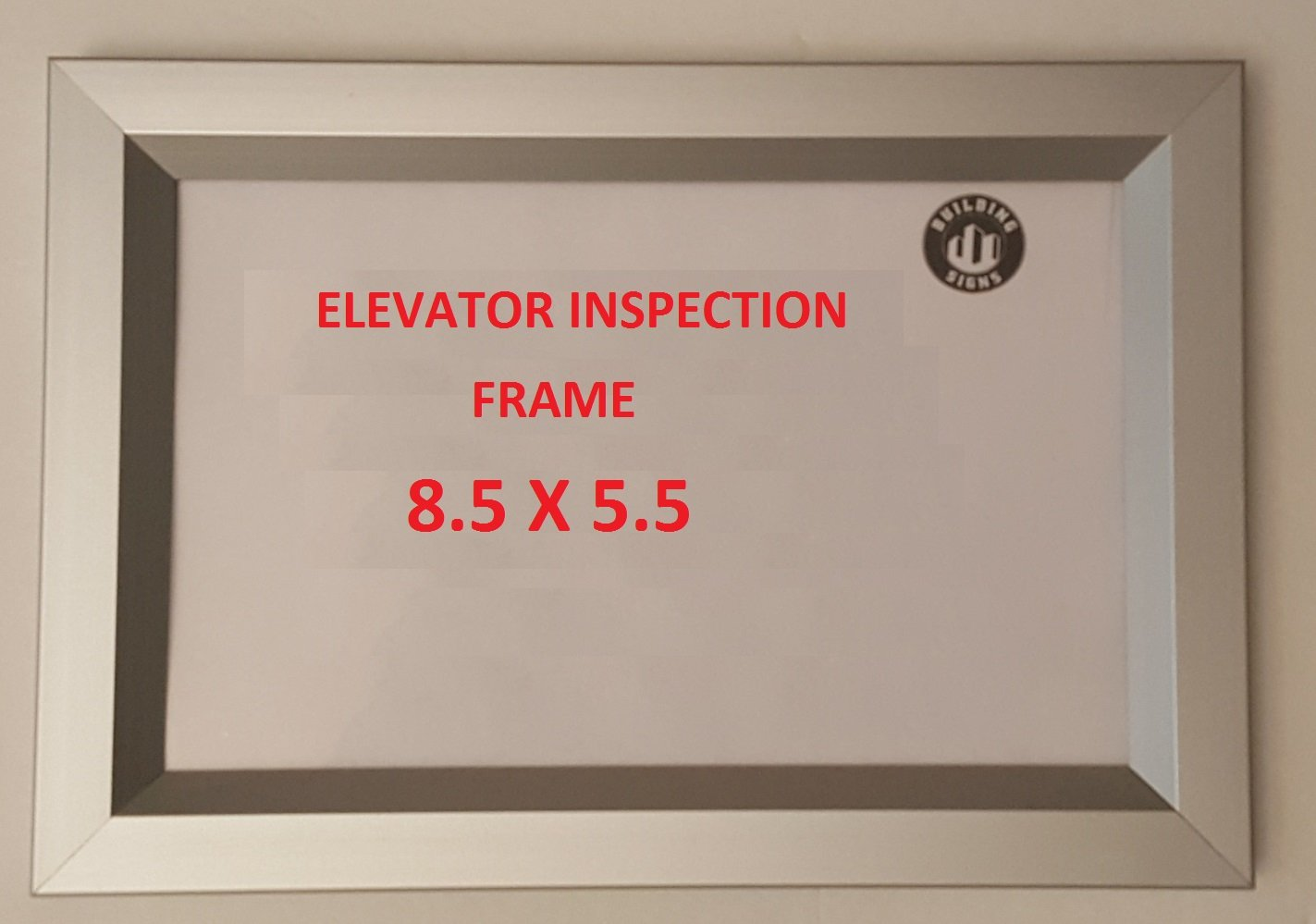Elevator inspection frame 8.5 x 5.5 ( Heavy Duty - Aluminum)