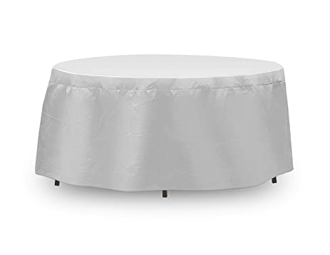 Protective Covers Weatherproof Table Cover, 48 Inch X 54, Inch Round Table,  Gray
