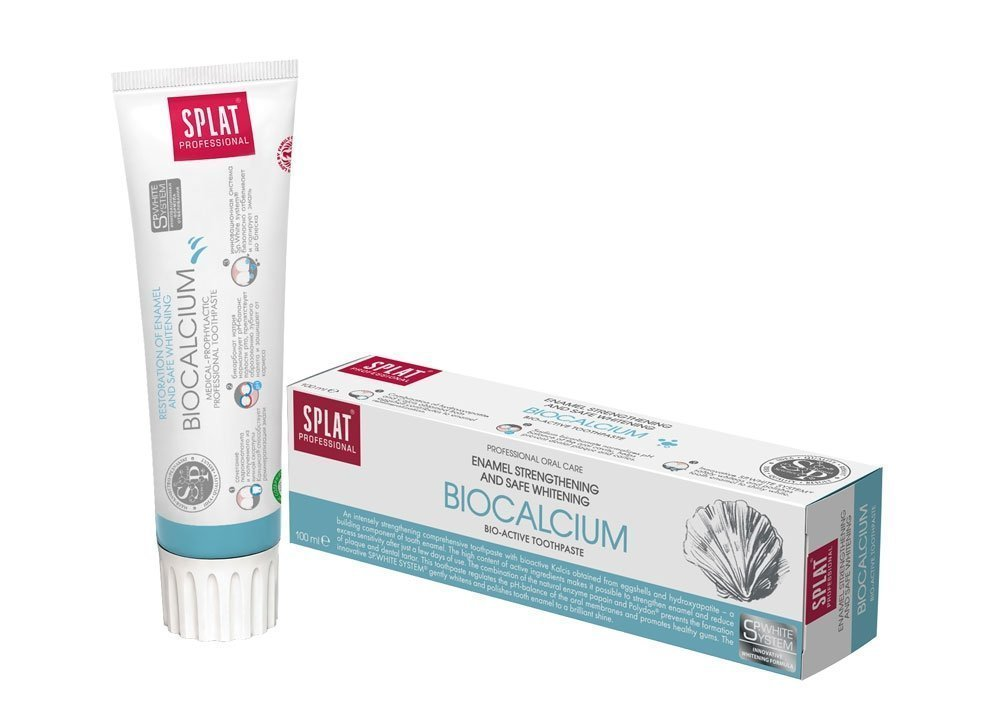Professional Toothpaste Splat ''Biocalcium''. Enamel Restoring and Safe Whitening.