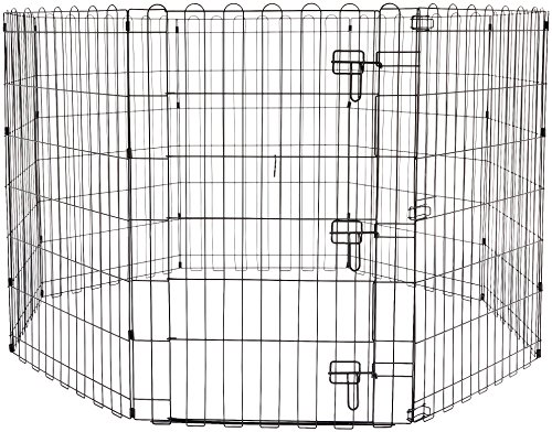 AmazonBasics Foldable Metal Pet Dog Exercise Fence Pen With Gate - 60 x 60 x 36 Inches from AmazonBasics