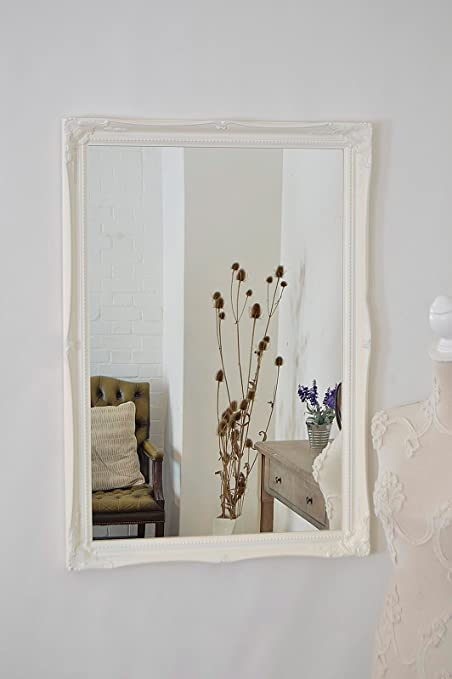 Quality ornate white wood frames 3 large sizes 5 colours frame only or plastic glass