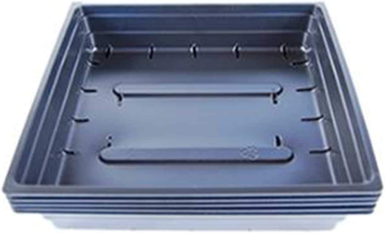 Plant Germination Drip Trays – Pack of 100-10 by 10 Black Plastic Greenhouse Growing Trays with No Drain Holes – for Seedlings, Microgreens, Wheatgrass, More
