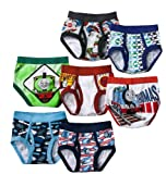 Thomas the Train Toddler Boys' Briefs 7 Pair Pack - Made of 100% combed cotton
