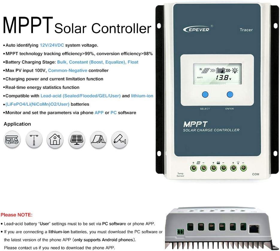 Solar Charge MPPT Controller EPEVER 30A Tracer 3215BN 12V//24V