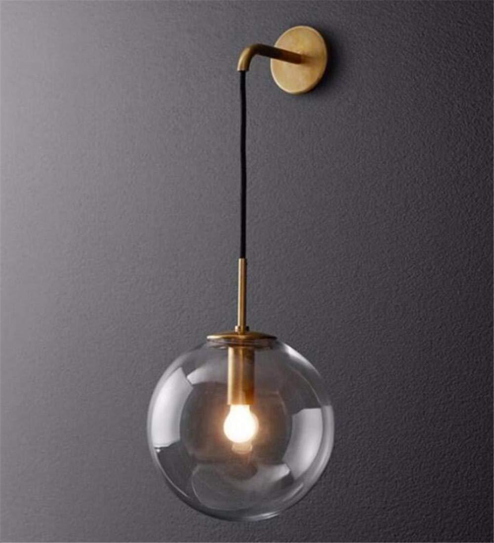 Moderne LED Glaskugel Wandleuchte Industrie Wohnzimmer Restaurant Bar Schlafzimmer 20cm
