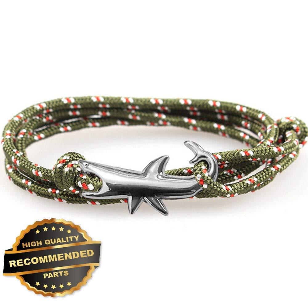 Style GATBRC-1127427 Gatton Shark Men Women Weaving Jewelry Bijoux Homme Rope Braclet Adjustable Bracelet