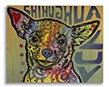 Dean Russo Chihuahua Luv Printed on 11x14 Wood Pallet Slats Wall Art Sign Plaque Distressed Design