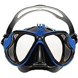 VILISUN Maschera da immersione, Maschera snorkeling subacquea, materiale silicone e PC migliore, con la montatura compatibile con camera GoPro