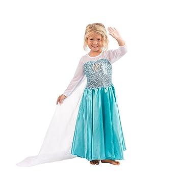 Reina de Hielo Costume Princesa de la nieve Vestido Elsa Princesa Disfraz Vestido Niñas (5