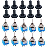 5PCS 6P Toggle Switch 6A 125VAC 6 Pin DPDT ON-ON Mini Toggle Switch New  huM/_NMR