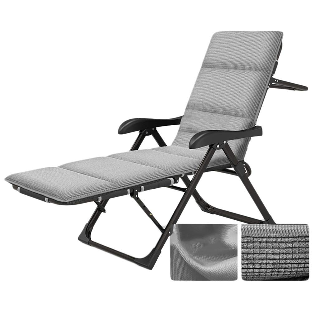 C 152x54x98cm CAIJUN Deck Chair Foldable Steel Frame Portable Breathable Non-Slip Can Lie Flat Safe Use Balcony Chair, 5 Styles (color   A, Size   152x54x98cm)