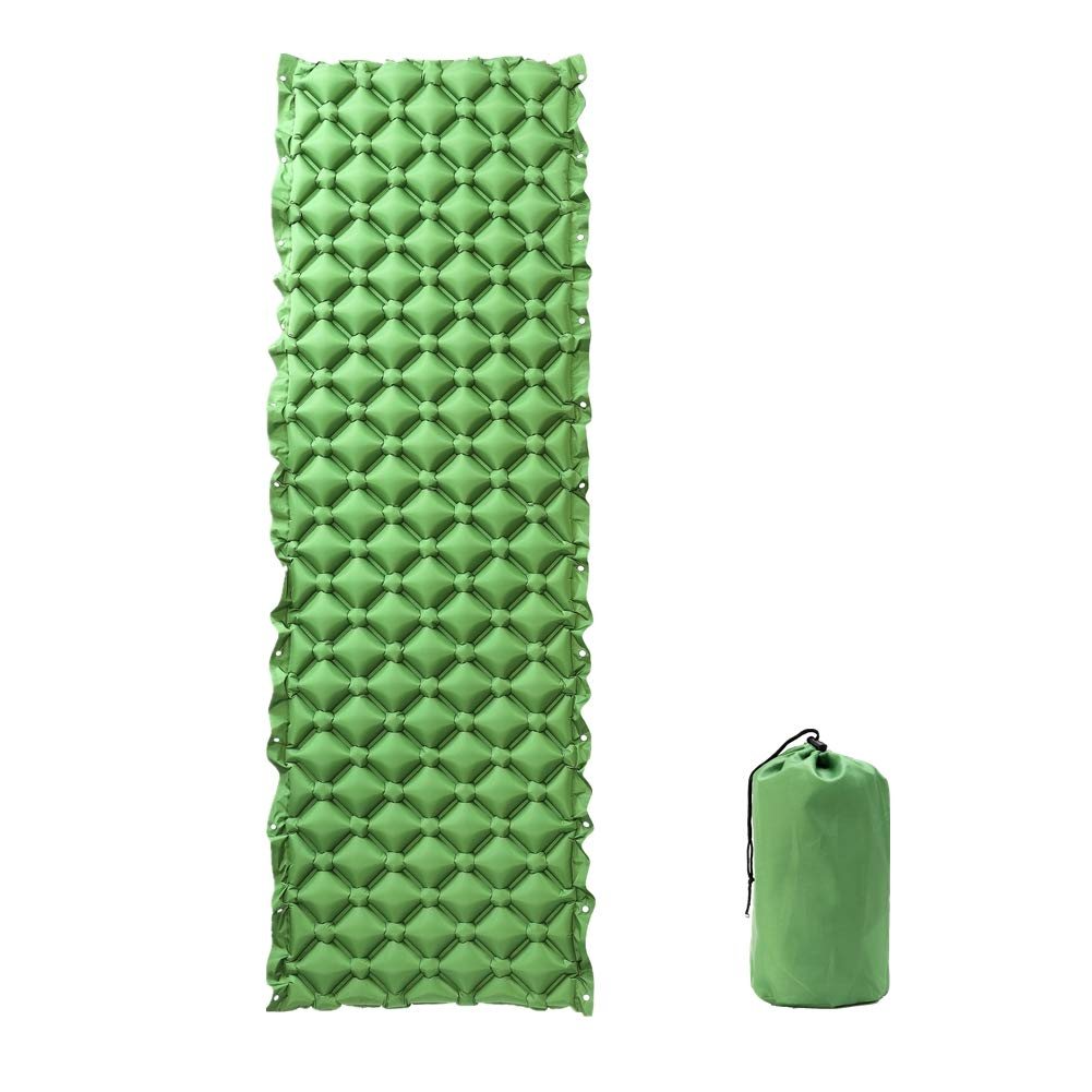 ieasky Camping Sleeping Pad, 1 Pack Inflatable Pads Splicing Ultralight Compact Camping Mats Mattress for Sleeping Backpacking Beach Mat Sleep Pad by ieasky