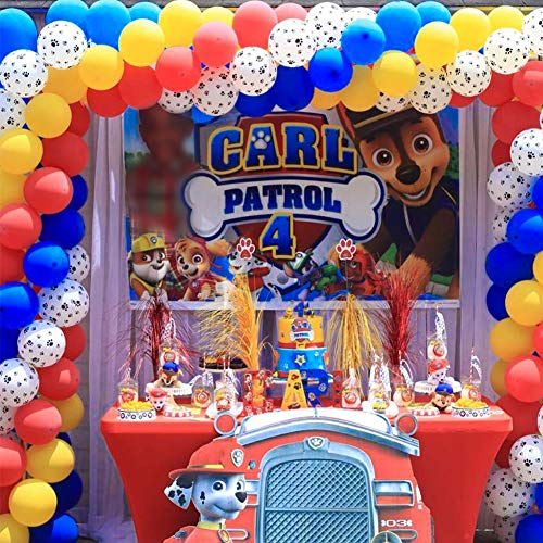 Partywoo Paw Patrol Balloons 70 Pcs 12 Inch Yellow Balloons Blue Balloons Red Balloons Paw Balloons Paw Patrol Party Supplies Toy Story Party