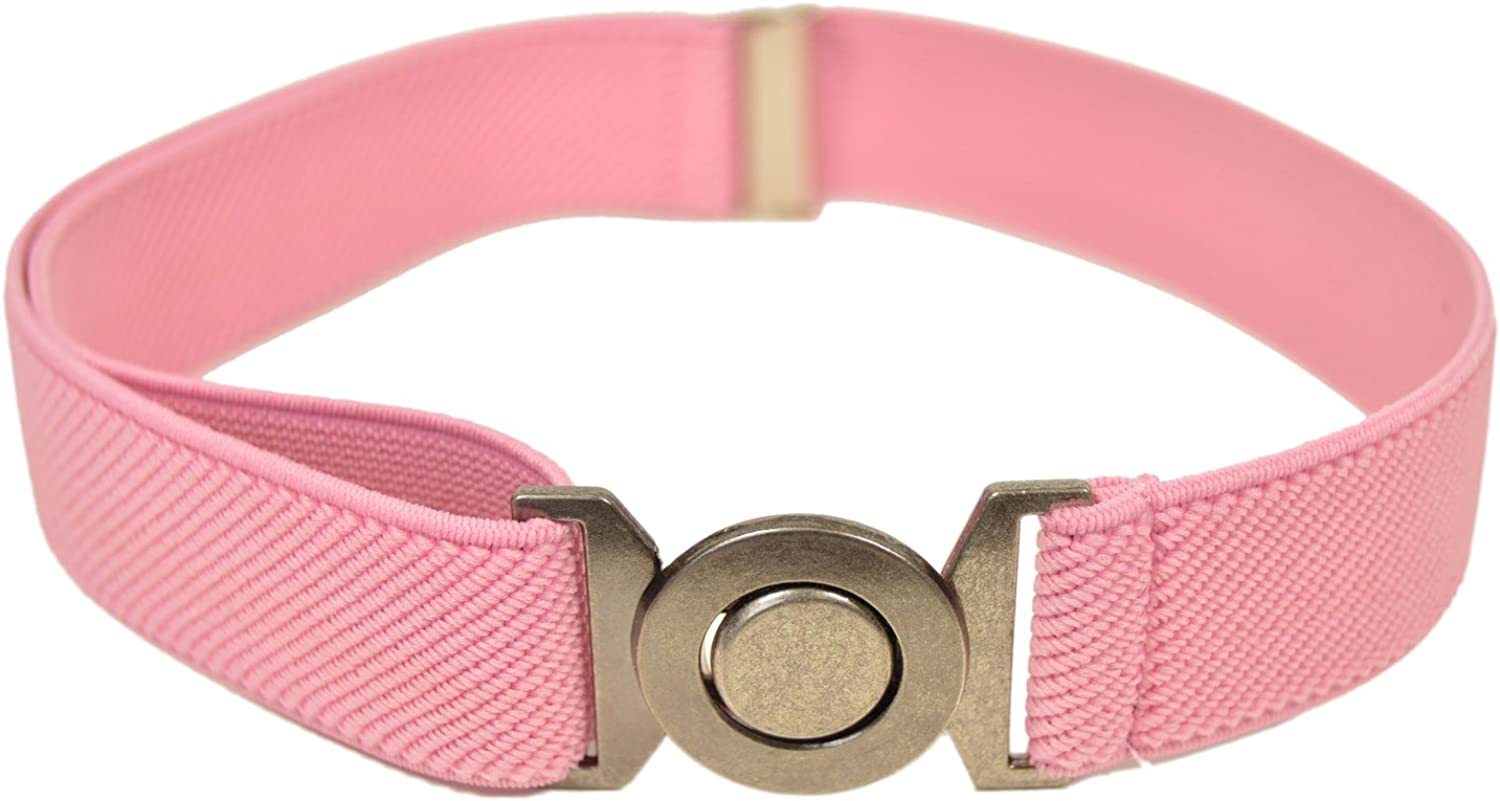 Childrens 1-6 Years fully adjustable Stretch Belt with Round Buckle Design