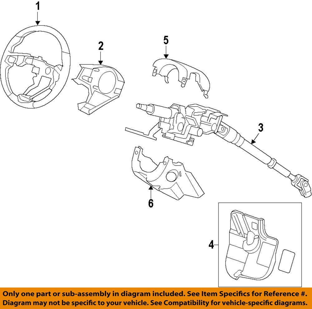 Honda Genuine 53200-SZT-G02 Steering Column Assembly