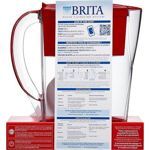 New Brita Water Filtration System Mini Plus Color Series 6Cu