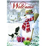 Carson Home Accents Snowman & Puppy Trends Classic Garden Flag