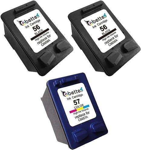 Bette – Cartuchos de tinta para HP 56 C6656 A 57 C6657 A, color 2 ...