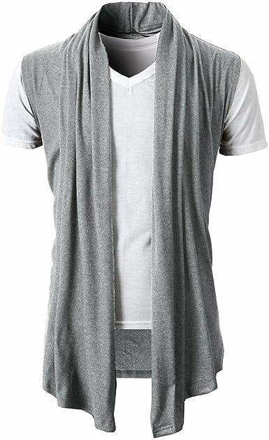 OHQ Camisa para Hombre Verano Tops Sin Mangas De Punto SóLido ...