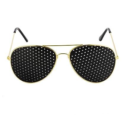 bb8aa7b52b Freesoo Anteojos Gafas Reticulares Agujeros Lectura vidrios del Agujero de  Alfiler Anti-Fatiga la Prevenci&