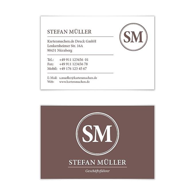 Papierprodukte 100 X Visitenkarten Individuell Business