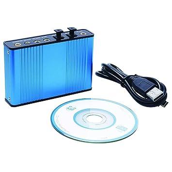 Luxtech Tarjeta de Sonido Externa Adaptador de tarjeta de sonido ...