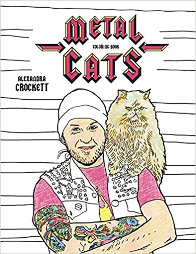 Amazon Com Metal Cats Coloring Book 9781576878453 Alexandra