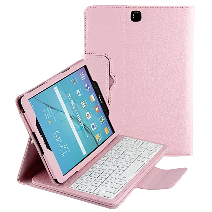 cheap for discount 2ee59 5bfd5 Smart Keyboard Case for Samsung Galaxy S2 Model SM-T810 Tablet Case, Slim  Lightweight Stand Cover with Detachable Wireless Bluetooth Keyboard Folio  ...